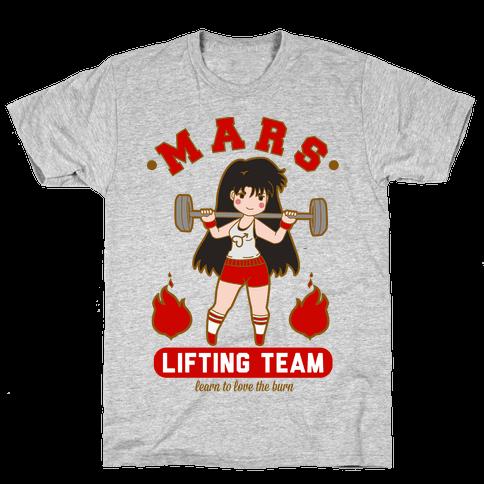 Mars Lifting Team Mens T-Shirt