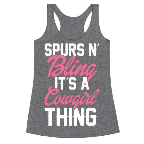 Spurs and Bling Racerback Tank Top