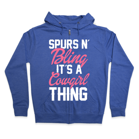 Spurs and Bling Zip Hoodie