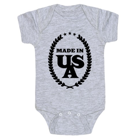 American Made Baby Onesy