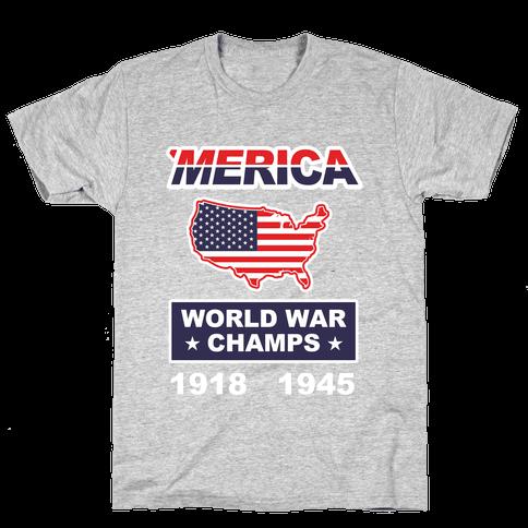 Merica World War Champs Mens T-Shirt
