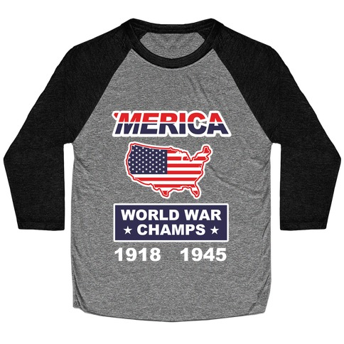 Merica World War Champs Baseball Tee