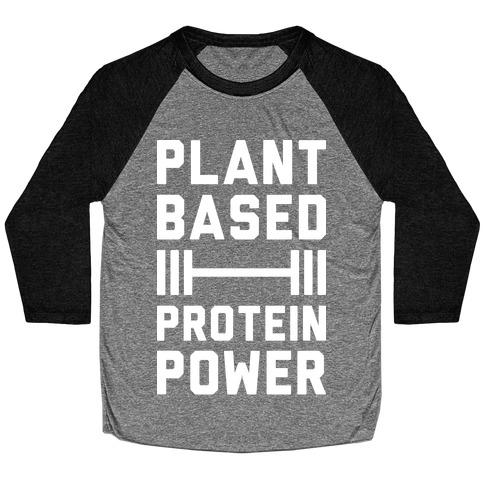 Plant Based Protein Power Baseball Tee