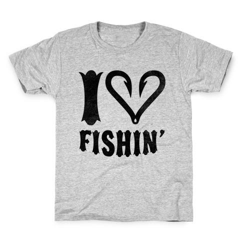 I Love Fishin Kids T-Shirt