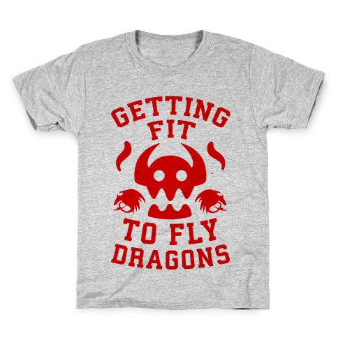 Getting Fit to Fly Dragons Kids T-Shirt