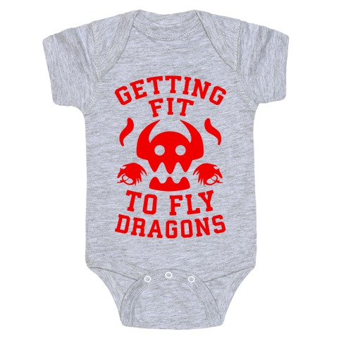 Getting Fit to Fly Dragons Baby Onesy