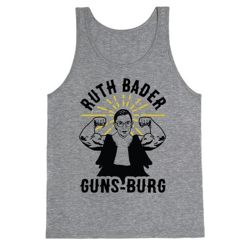 Ruth Bader Guns-Burg Tank Top