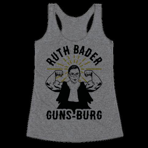 Ruth Bader Guns-Burg Racerback Tank Top