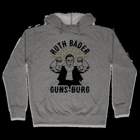 Ruth Bader Guns-Burg Hooded Sweatshirt