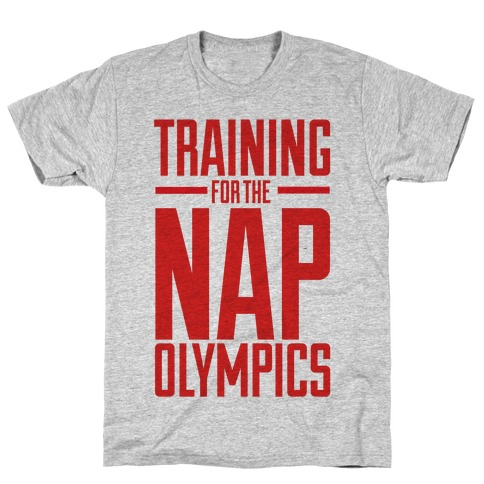 Training For The Nap Olympics Mens T-Shirt