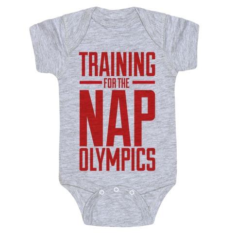 Training For The Nap Olympics Baby Onesy