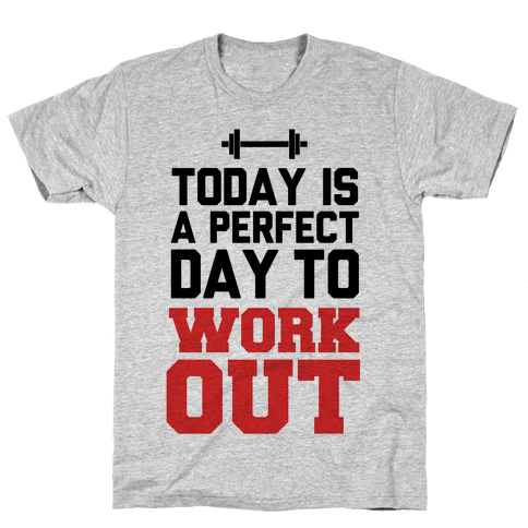 Today Is a Perfect Day to Work Out Mens T-Shirt