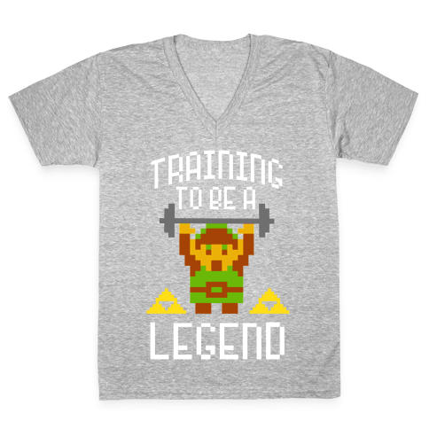 Training To Be A Legend V-Neck Tee Shirt