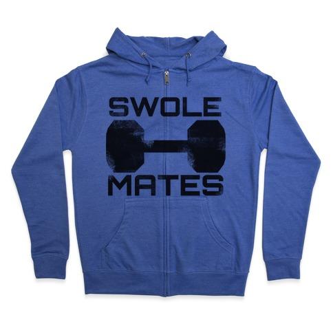 Swole Mates Zip Hoodie