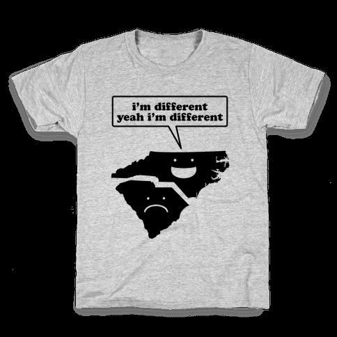 North Carolina: I'm Different Kids T-Shirt