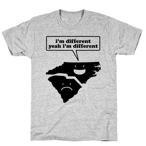 North Carolina: I'm Different Mens T-Shirt