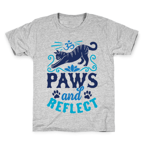 Paws And Reflect (Cat) Kids T-Shirt