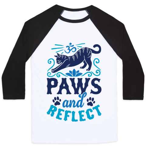 Paws And Reflect (Cat) Baseball Tee