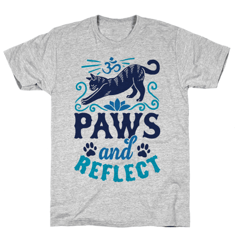 Paws And Reflect (Cat) Mens T-Shirt