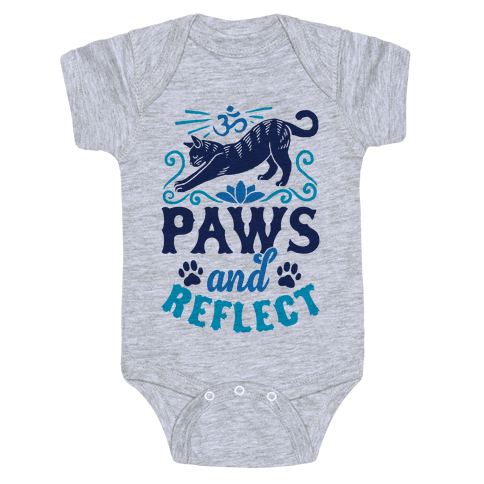Paws And Reflect (Cat) Baby Onesy