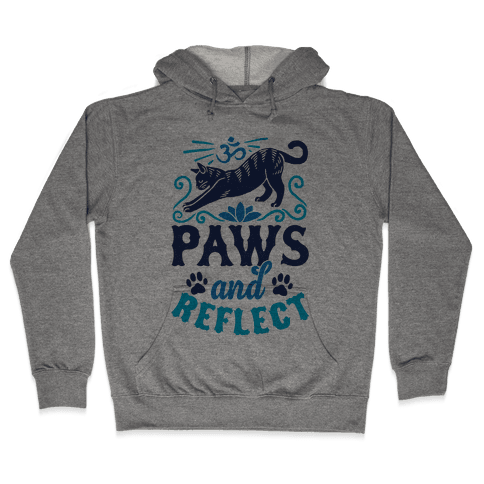 Paws And Reflect (Cat) Hooded Sweatshirt