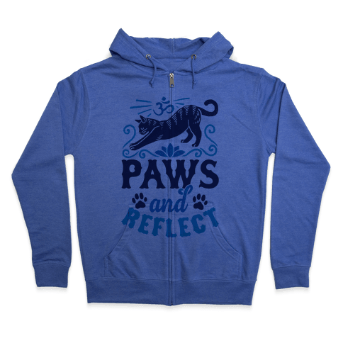 Paws And Reflect (Cat) Zip Hoodie