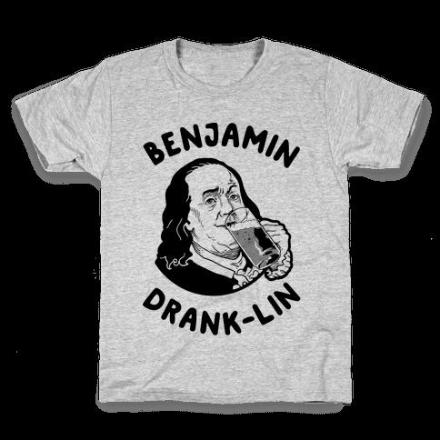 Benjamin Drank-lin Kids T-Shirt