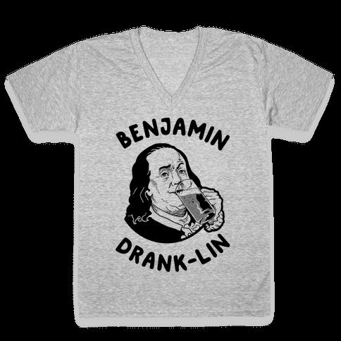Benjamin Drank-lin V-Neck Tee Shirt