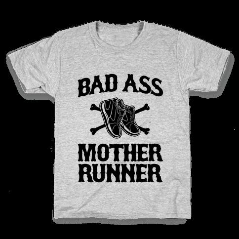 Bad Ass Mother Runner Kids T-Shirt
