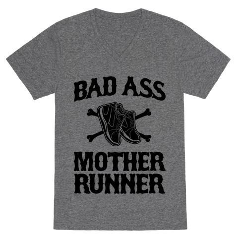 Bad Ass Mother Runner V-Neck Tee Shirt