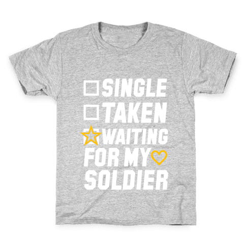 Waiting For My Soldier (Army Tank) Kids T-Shirt
