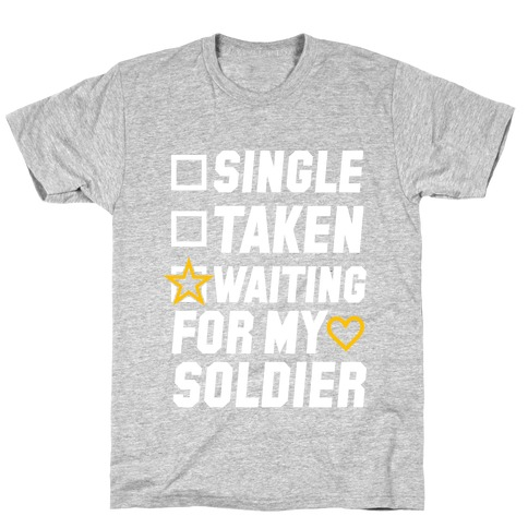 Waiting For My Soldier (Army Tank) Mens T-Shirt