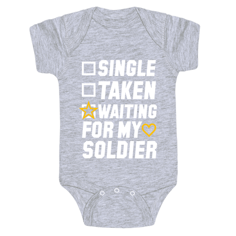 Waiting For My Soldier (Army Tank) Baby Onesy