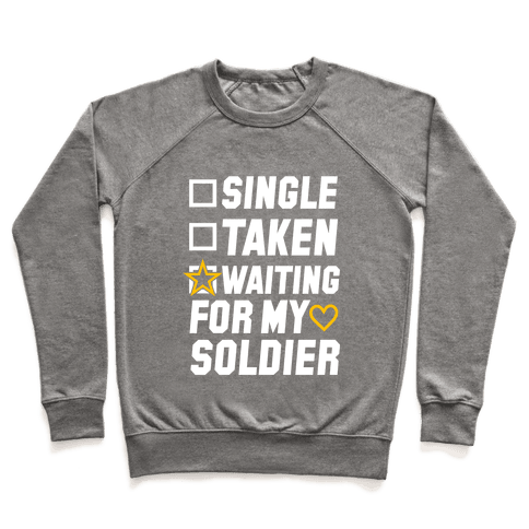 Waiting For My Soldier (Army Tank) Pullover