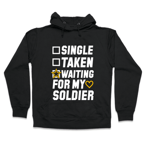 Waiting For My Soldier (Army Tank) Hooded Sweatshirt