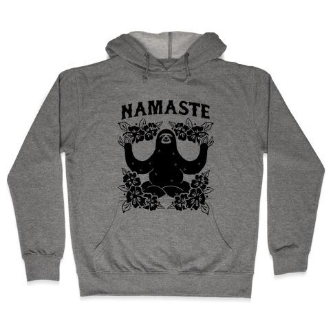 Namaste Sloth Hooded Sweatshirt