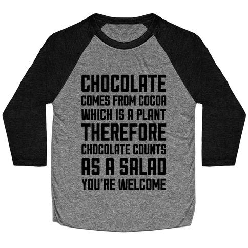 Chocolate Salad Baseball Tee