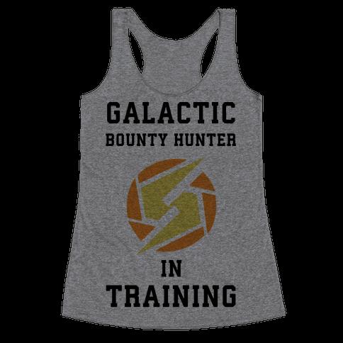 Galatic Bounty Hunter In Training Racerback Tank Top