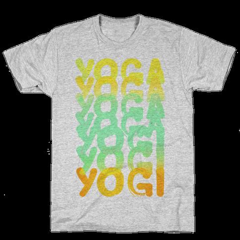 Yoga Into A Yogi Mens T-Shirt