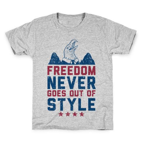 Freedom Never Goes Out of Style (Patriotic Hoodie) Kids T-Shirt
