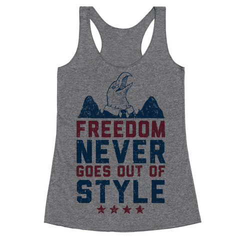 Freedom Never Goes Out of Style (Patriotic Hoodie) Racerback Tank Top