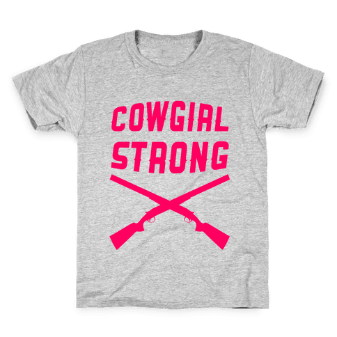Cowgirl Strong Kids T-Shirt