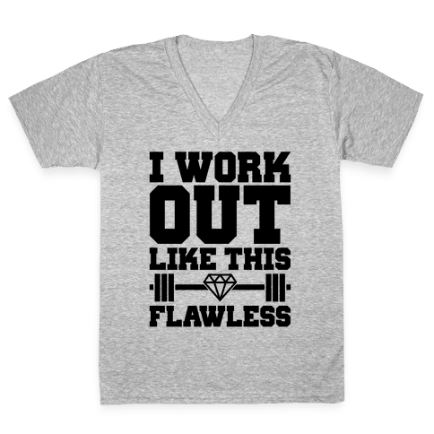 Flawless Workout V-Neck Tee Shirt