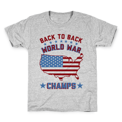 Back to Back World War Champs Kids T-Shirt