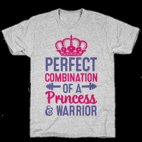 Perfect Combination Of A Princess & Warrior Mens T-Shirt