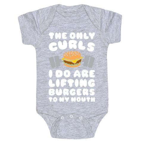 I Lift Burgers Baby Onesy