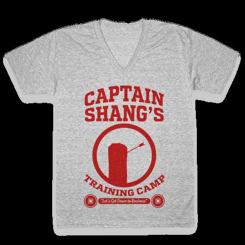 Captain Shang's Training Camp V-Neck Tee Shirt