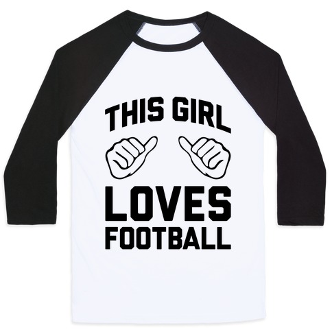 This Girl Loves Football Baseball Tee
