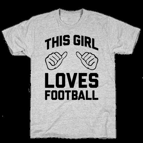 This Girl Loves Football Mens T-Shirt