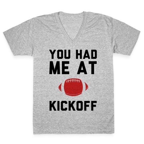 You Had Me At Kickoff V-Neck Tee Shirt